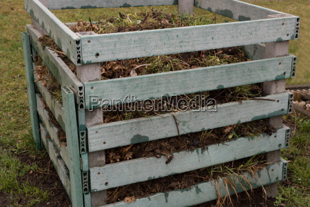wastes in a plastic composter