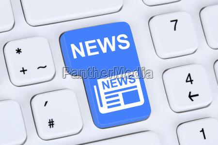 online newspaper news on computer