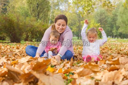happy, family, autumn - 14038583