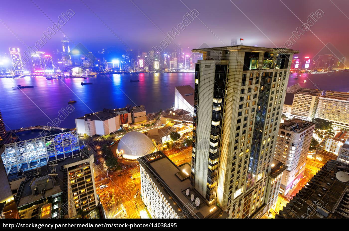 hong, kong, city, night - 14038495
