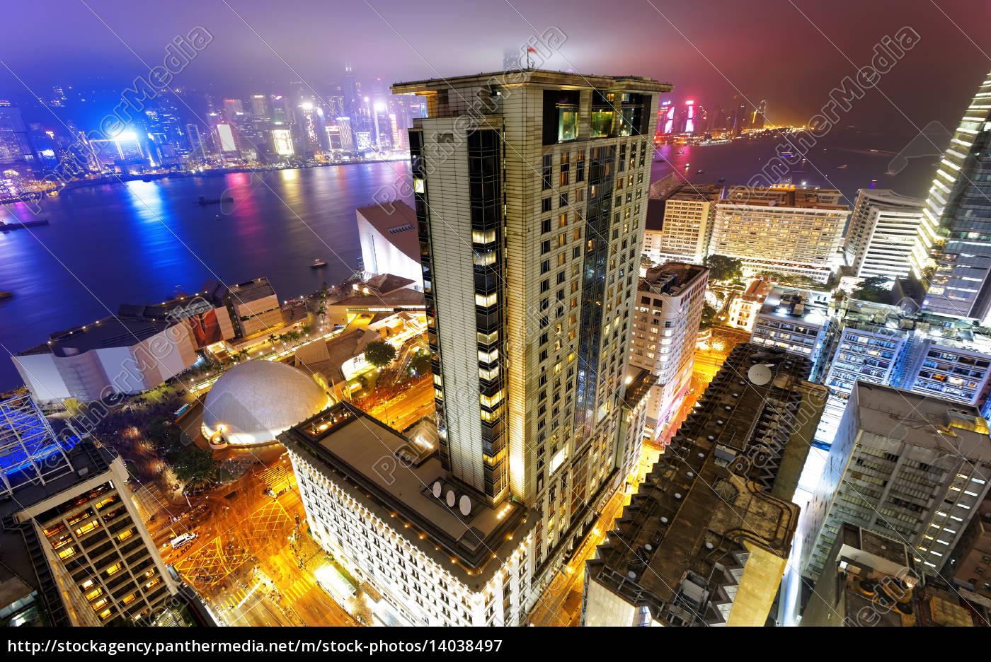 hong, kong, city, night - 14038497