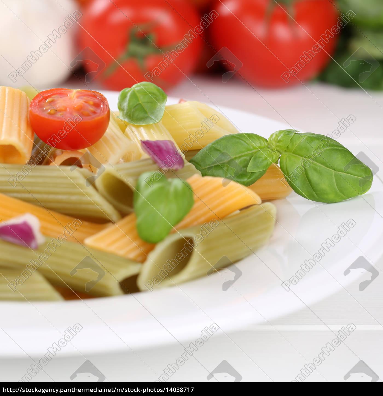 italian, food, colorful, penne, rigate, pasta - 14038717