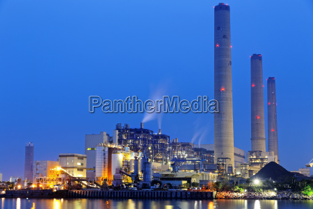 power, plant, at, night - 14038509