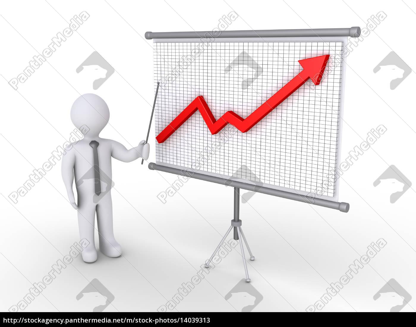 businessman, presenting, growing, graph - 14039313