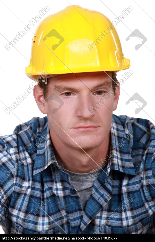 depressed, construction, worker - 14039677