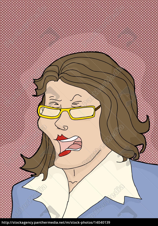 enraged, caucasian, businesswoman - 14040139