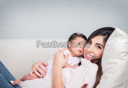 happy, mother, with, baby - 14040675