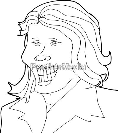 outline, of, joyful, woman - 14040155