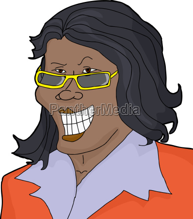 smirking, businesswoman - 14040165