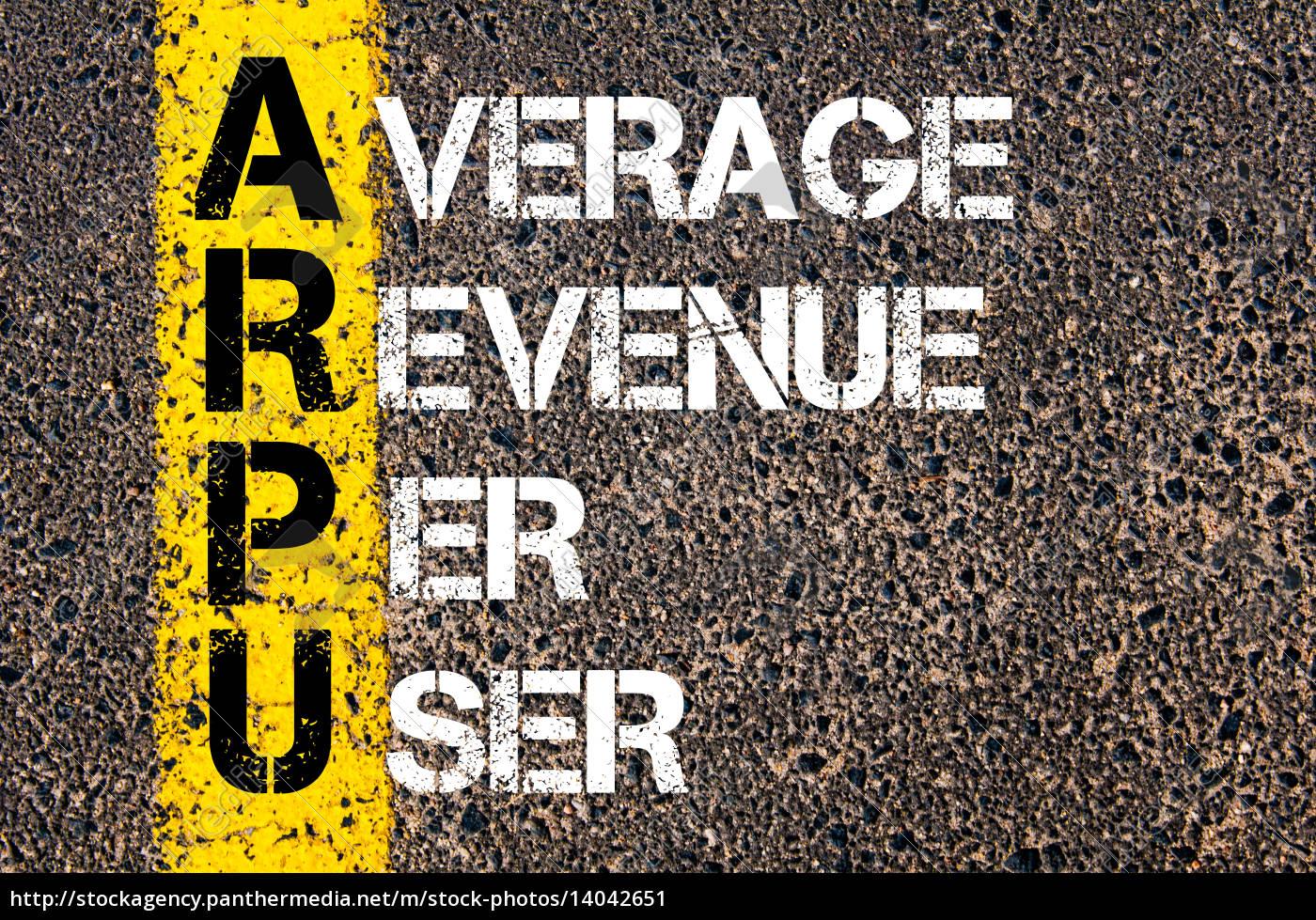 business, acronym, arpu, –, average, revenue - 14042651
