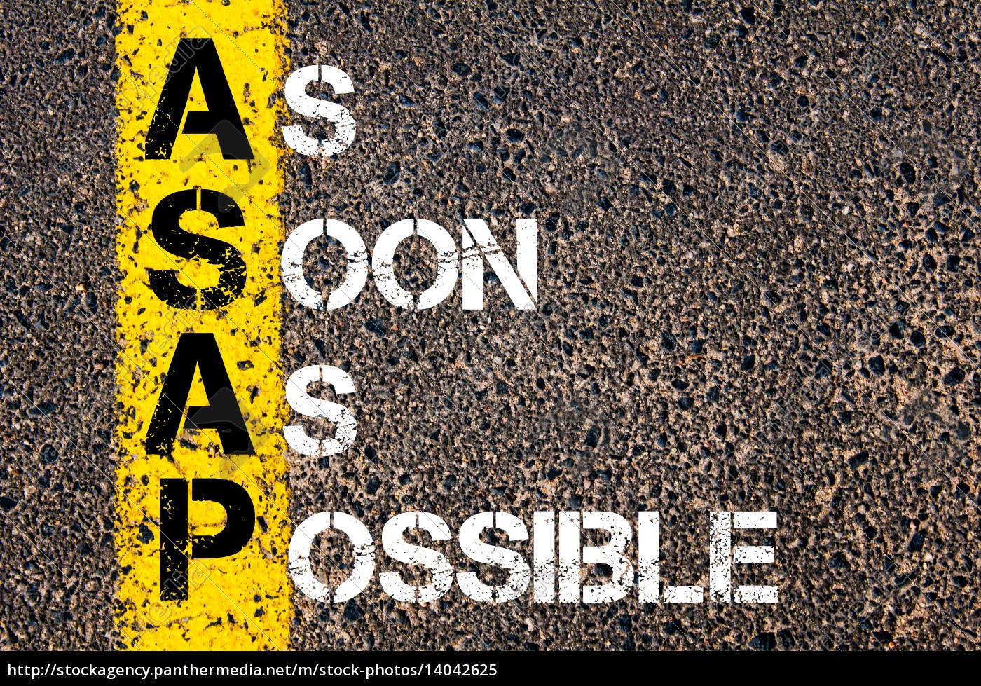 business, acronym, asap, –, , as - 14042625