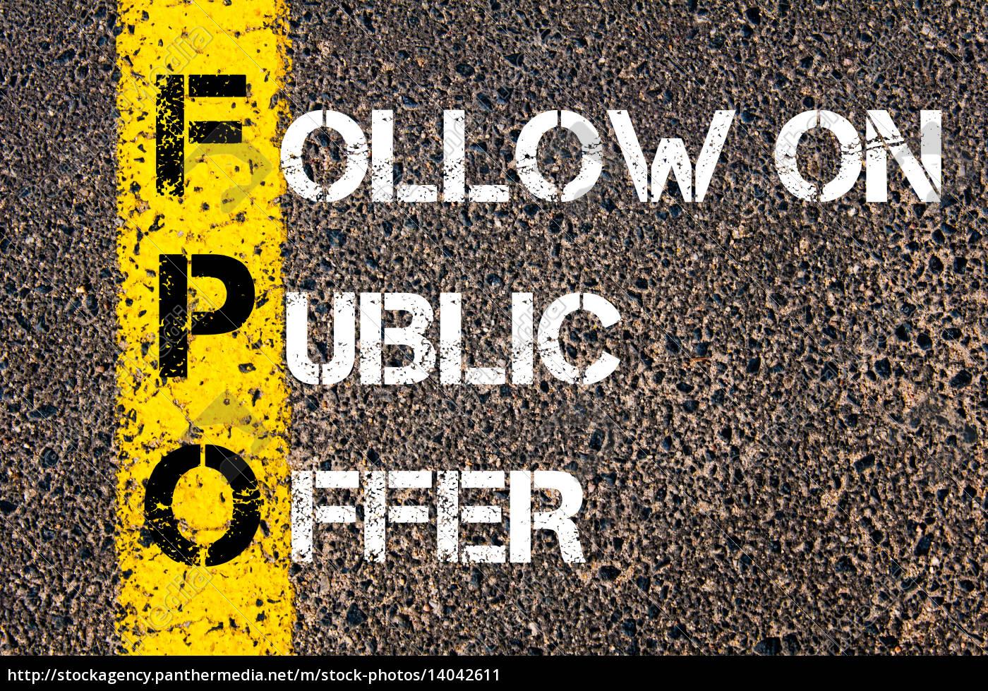 business, acronym, fpo, –, follow, on - 14042611