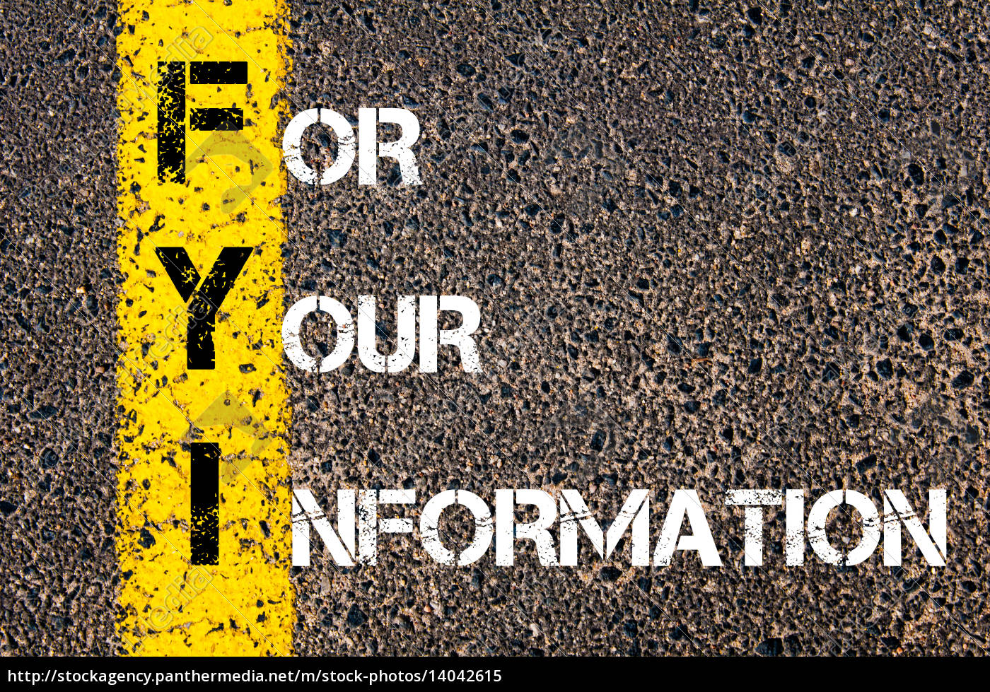 business, acronym, fyi, -, for, your - 14042615