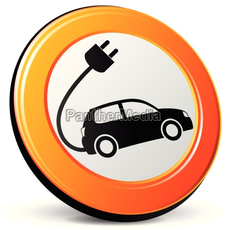 electric, car, icon - 14043249