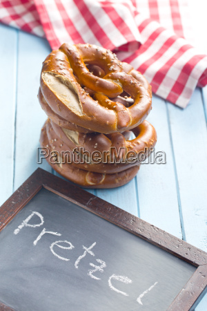 baked, pretzels, and, chalkboard - 14044877