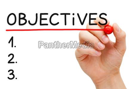 objectives list