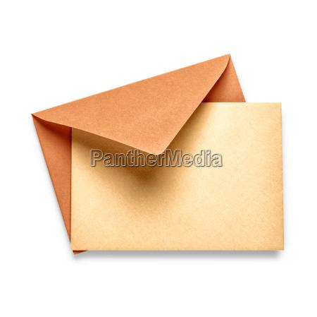 vintage envelope with card