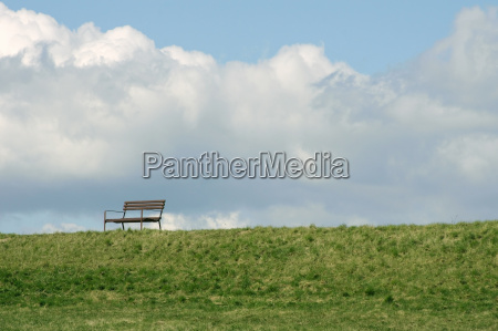 park bench on the dyke