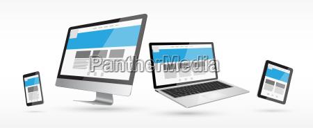 modern, digital, tech, device, collection - 14045191