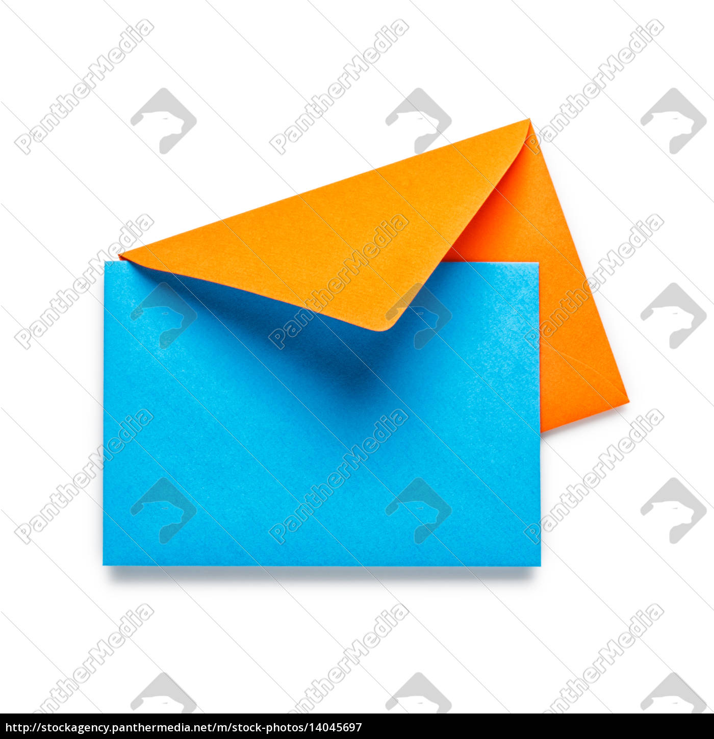 orange, envelope, with, blue, card - 14045697