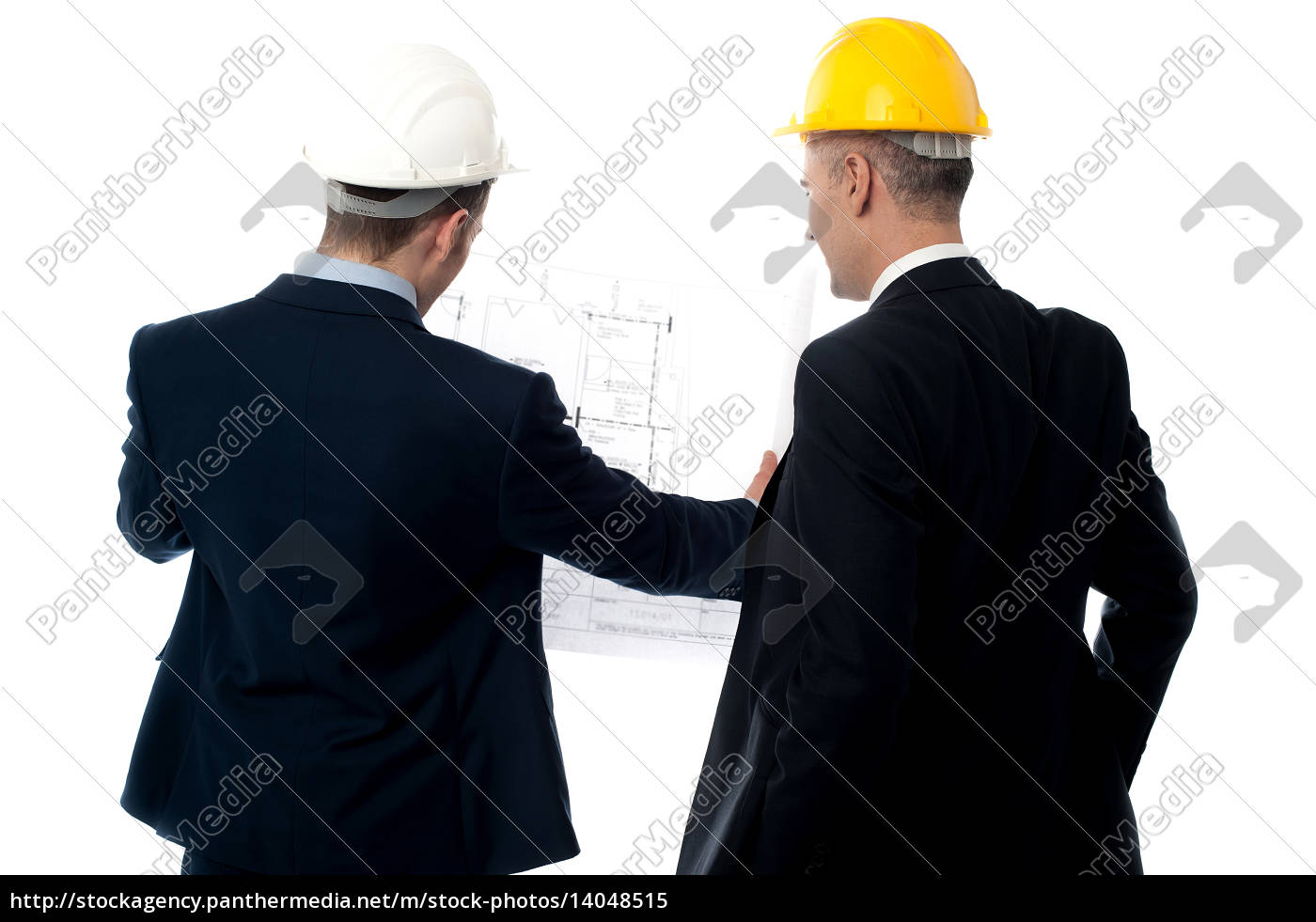 discussing, male, engineers, from, back - 14048515