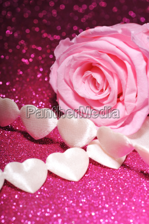 fabric, heart, with, rose - 14048977