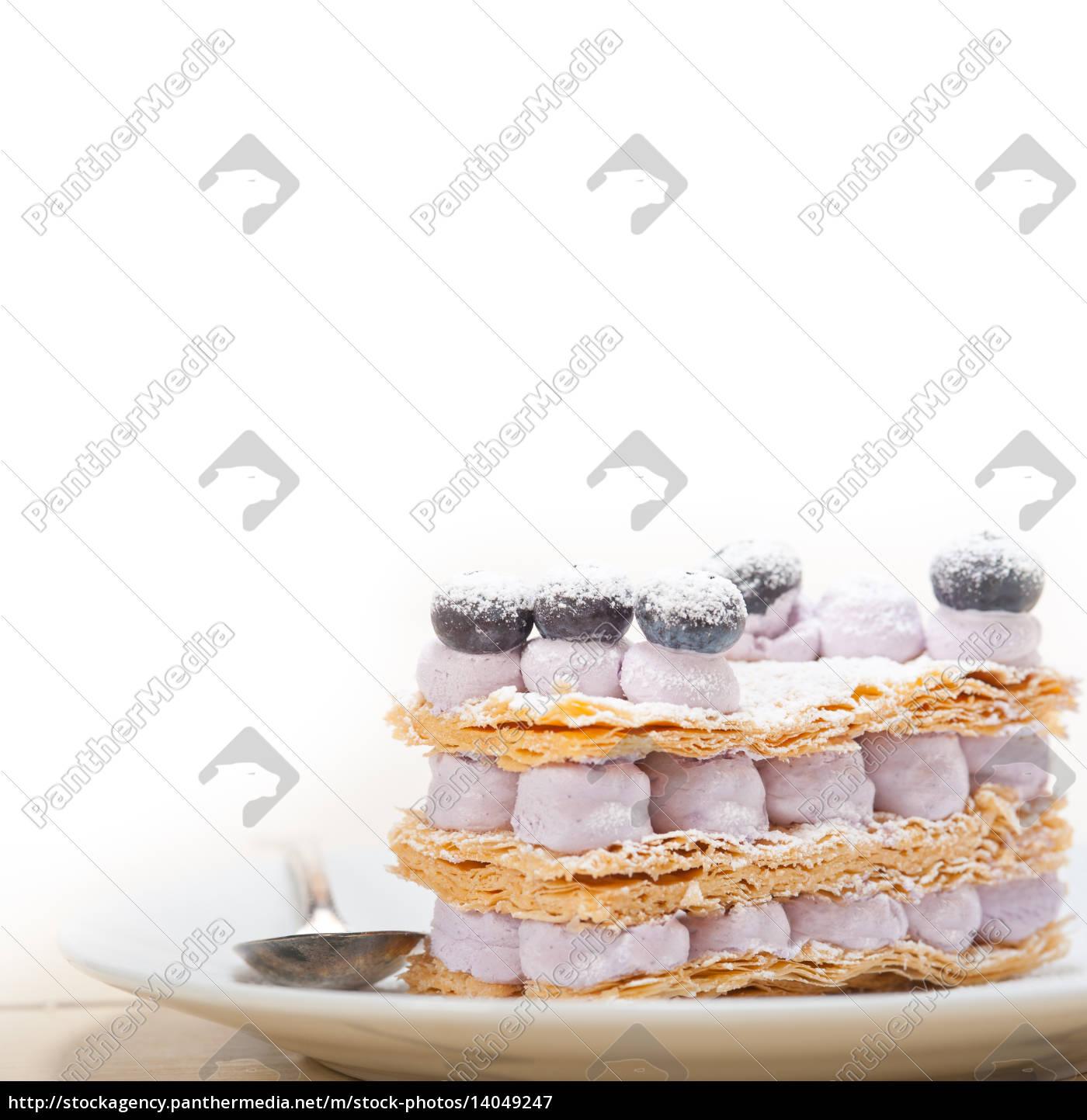 napoleon, blueberry, cake, dessert - 14049247