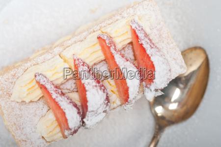 napoleon, strawberry, cake, dessert - 14049263