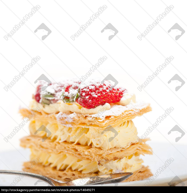 napoleon, strawberry, cake, dessert - 14049271