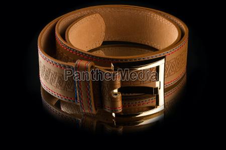 new, stylish, brown, leather, men's, belt - 14049415