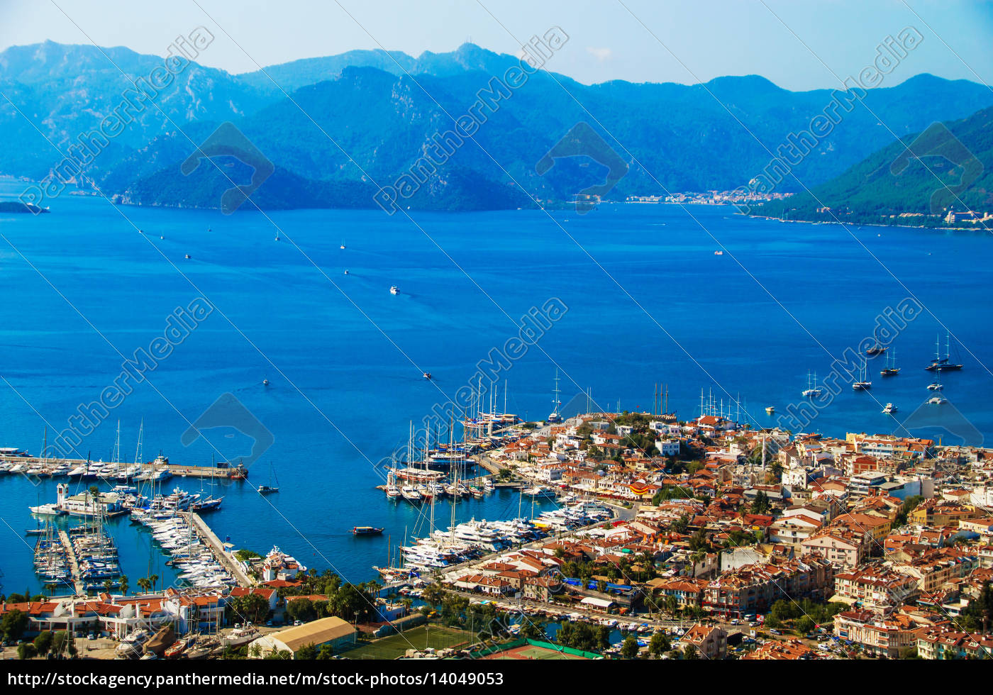 view, of, marmaris, harbor, on, turkish - 14049053