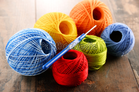 colorful, yarn, for, crocheting, and, hook - 14050983