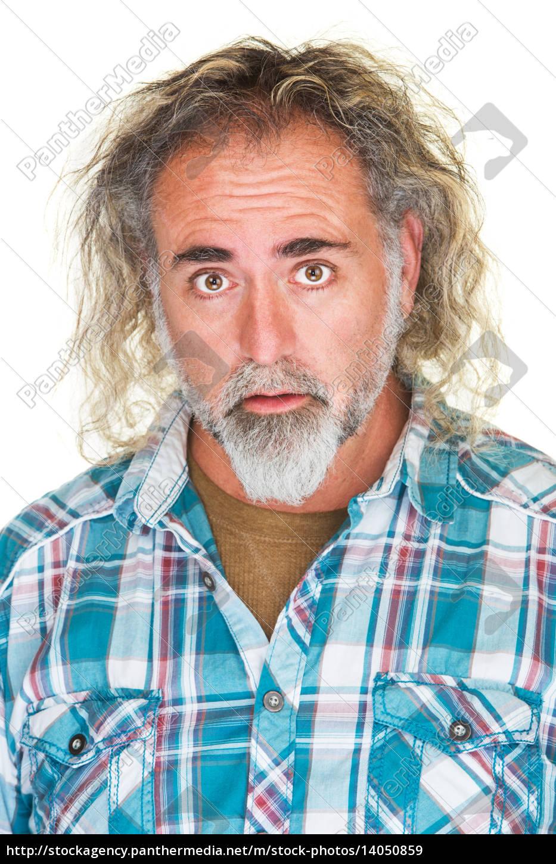 impressed, man, in, flannel, shirt - 14050859