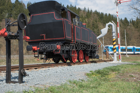 the old steam locomotive and modern