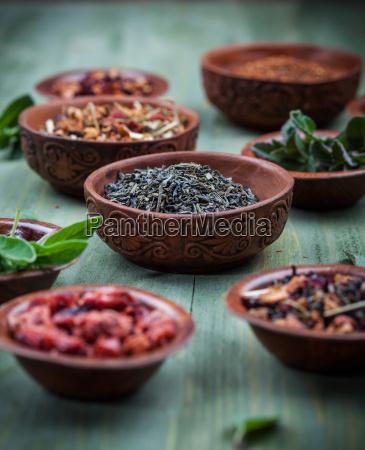 assortment, of, dry, tea - 14051391