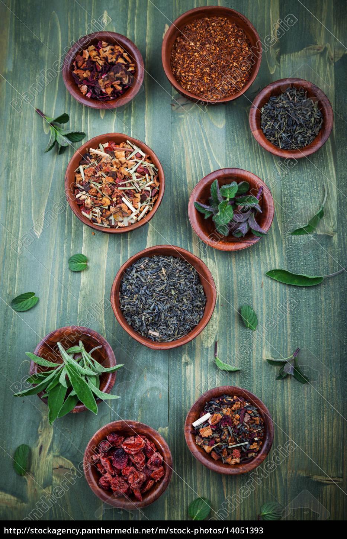 assortment, of, dry, tea - 14051393