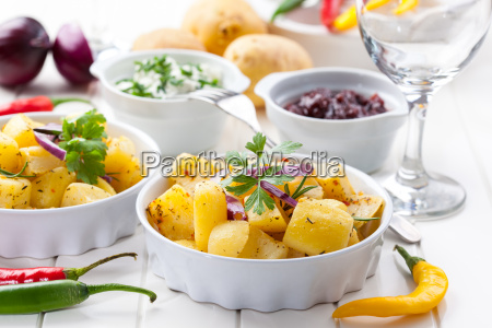 baked, potatoes, with, chutney, and, sour - 14051311