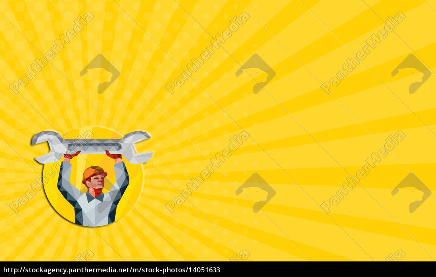 business, card, mechanic, spanner, wrench, circle - 14051633