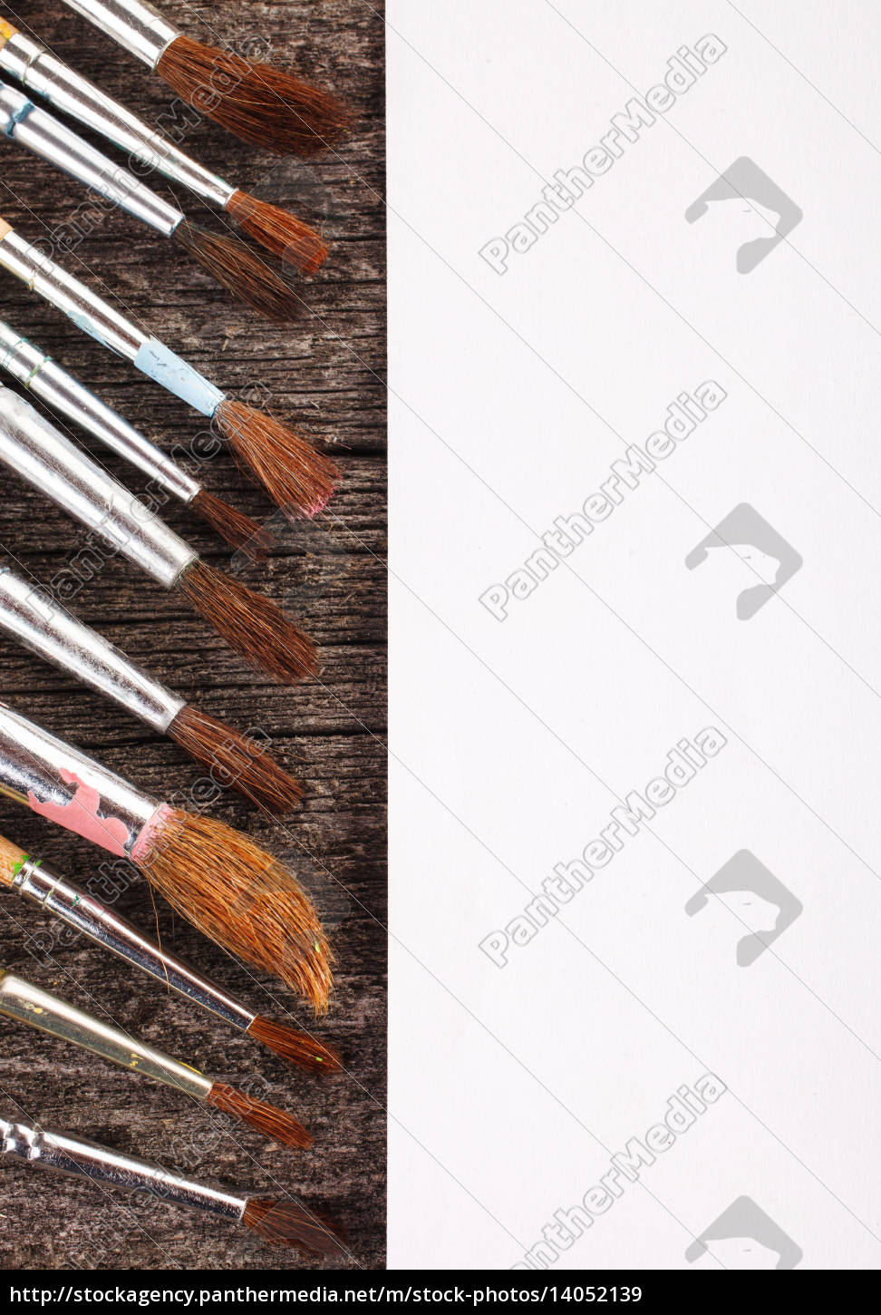 brushes, for, drawing, and, blank, paper - 14052139