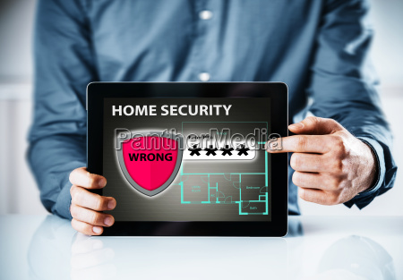 home security online warning for a