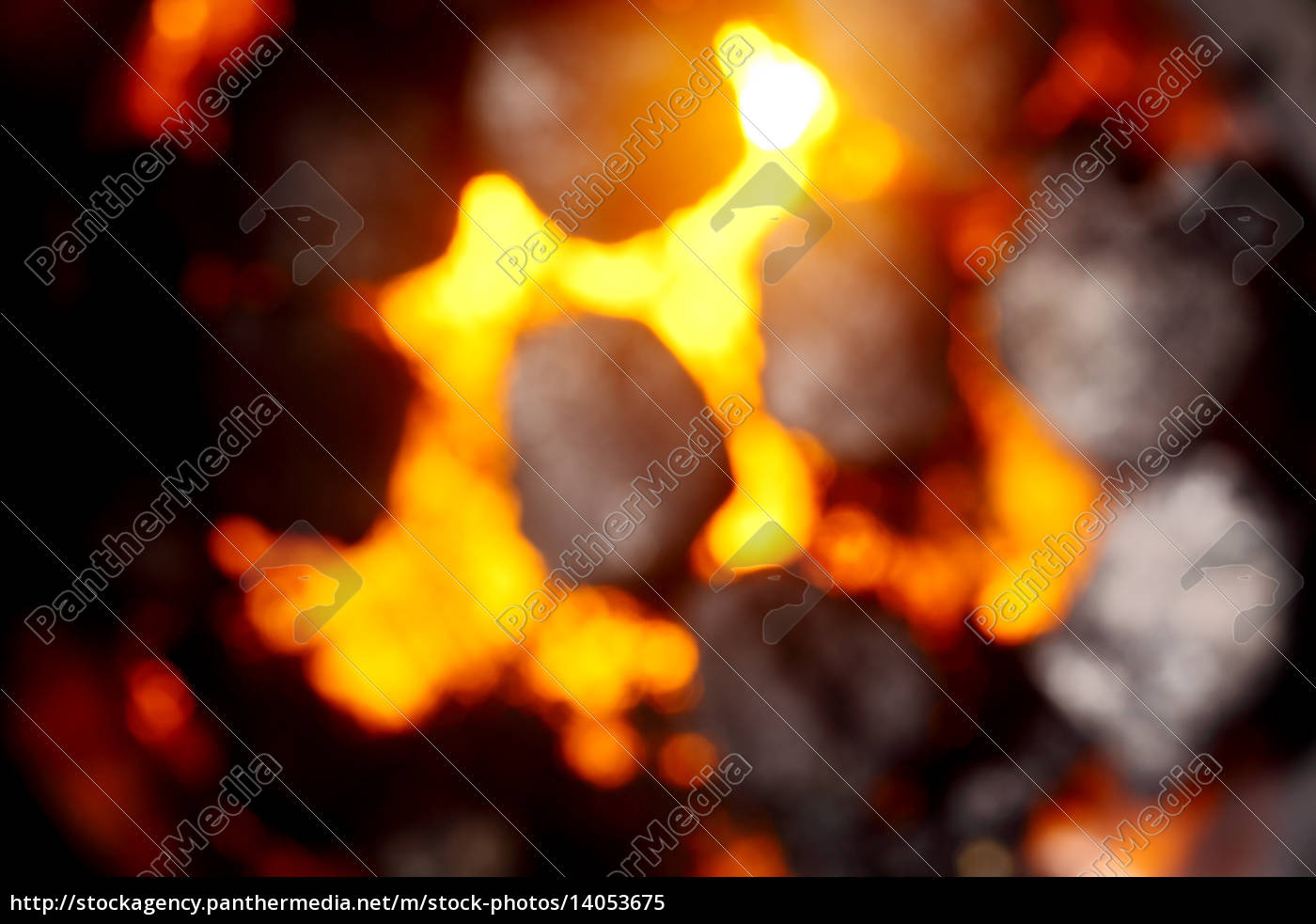 blurred, background, of, hot, glowing, coals - 14053675