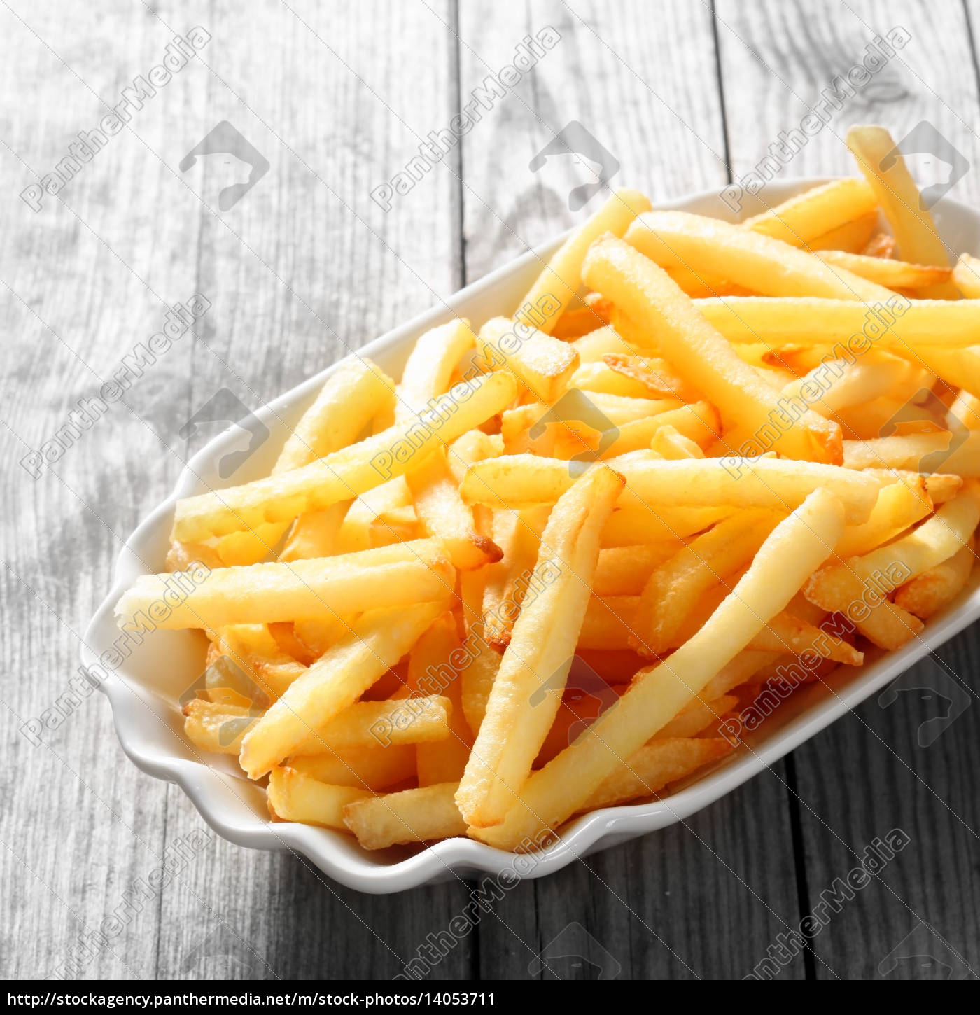 cooked, french, fries, on, white, plate - 14053711