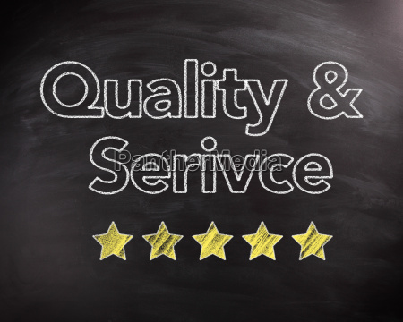 service, and, quality, texts, on, chalkboard - 14053905