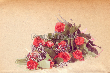 watercolor effect bouquet of fresh red