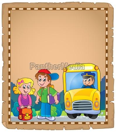 parchment with school bus 4