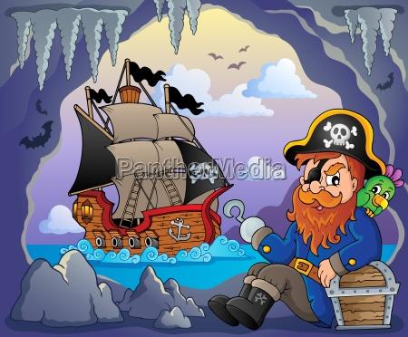 sitting, pirate, theme, image, 5 - 14054223