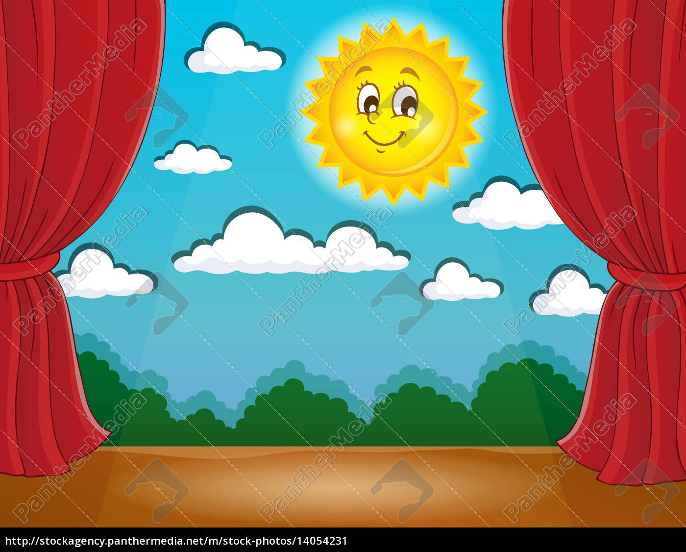 stage, with, happy, sun, 1 - 14054231