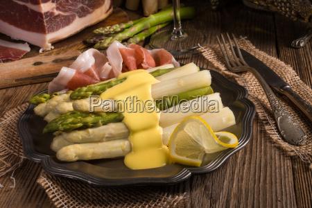 asparagus, with, ham - 14055545