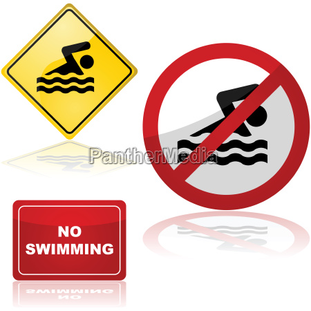 swimming, signs - 14055433