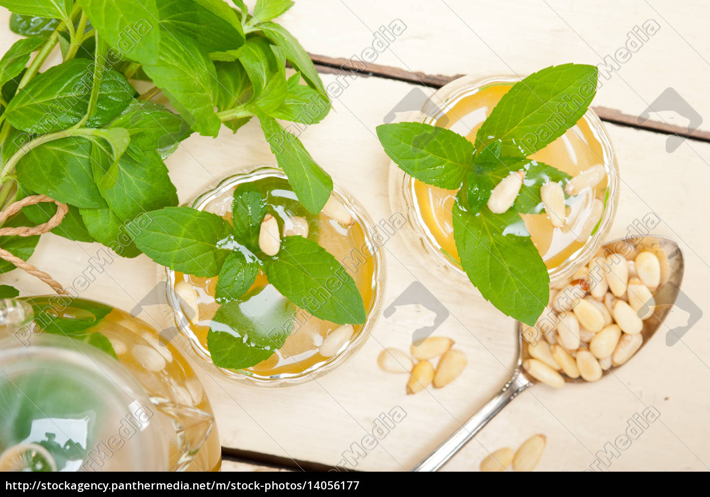 arab, traditional, mint, and, pine, nuts - 14056177